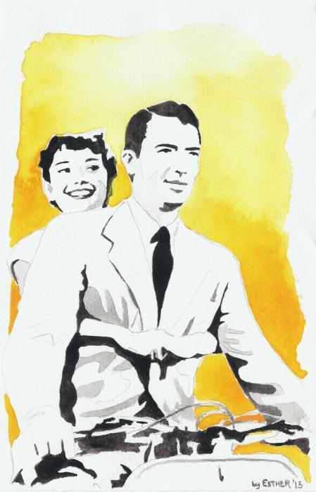 Audrey Hepburn, Gregory Peck by Estherproductos